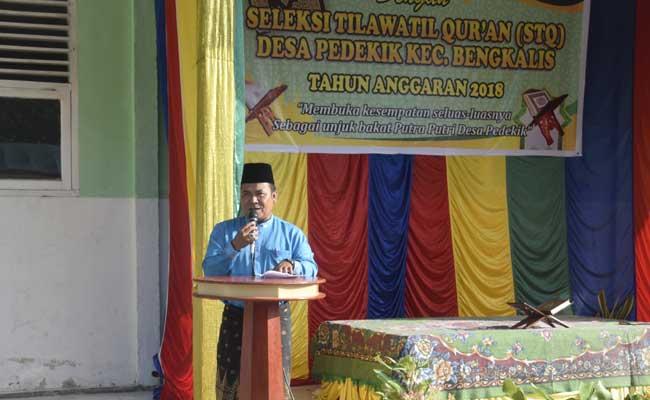 97 Peserta Ikuti Audisi Seleksi Tilawatil Qur'an Tingkat Desa Pedekik