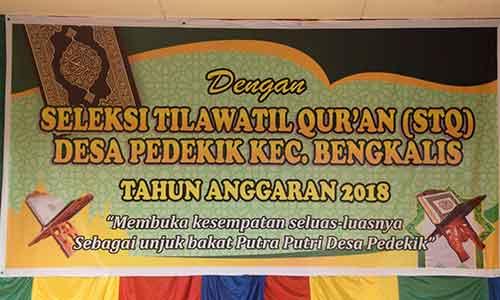 PENGUMUMAN Seleksi Tilawatil Qur'an (STQ) Tingkat Desa Pedekik 2019